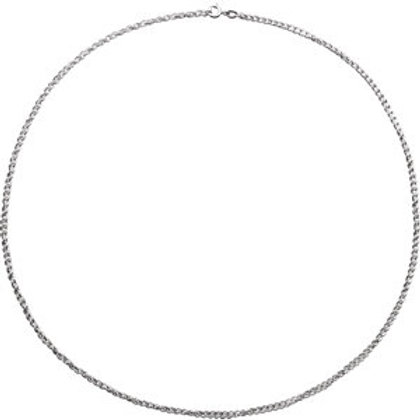 """Sterling Silver 2mm 18"""" Rope Chain with Spring Ring"""