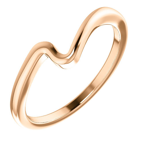 14K Rose  Band for 3.5mm, 4mm, 4.4mm Round Engagement Ring