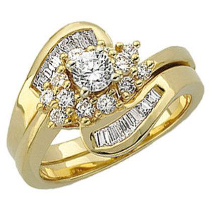 14K Yellow 1/3 CTW Diamond Engagement Base