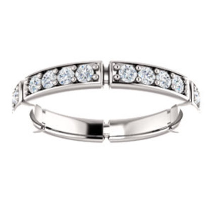 14K White 3/4 CTW Diamond Eternity Band