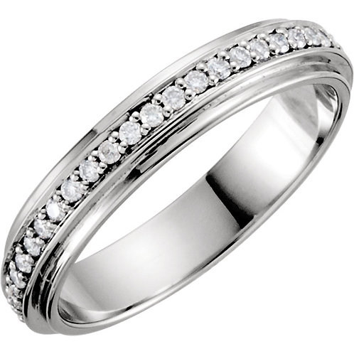 Platinum Eternity 1/3 CTW Diamond Duo Band