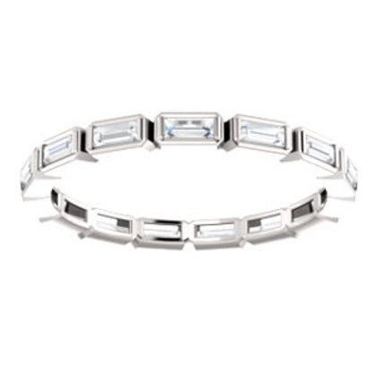 14K White Gold 1/2 CTW Diamond Eternity Band