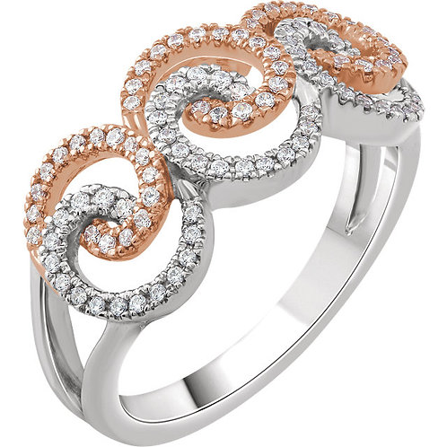 Accented Swirl Ring