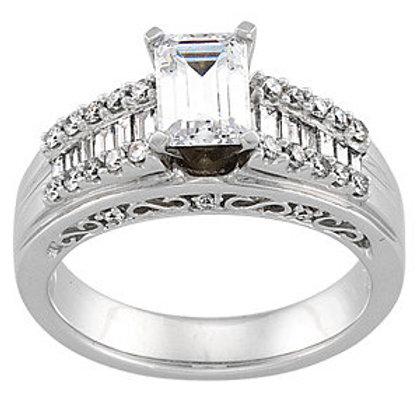 14K White 1/2 CTW Diamond Engagement Base