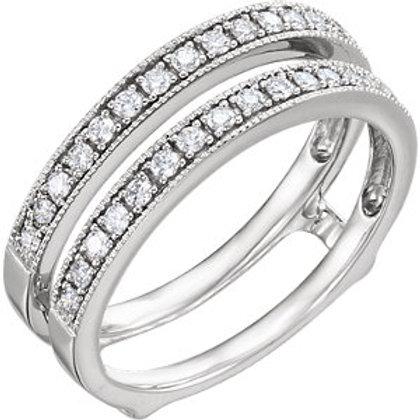14K White 1/3 CTW Diamond Ring Guard