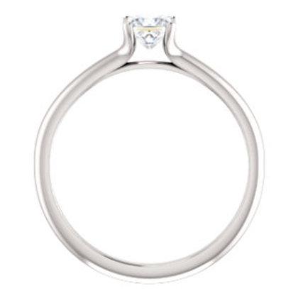 14K White 3/8 CT Diamond Engagement Ring
