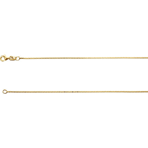 "18K Yellow Vermeil Diamond Cut Box 18"" Chain"