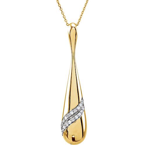 """14K Yellow 1/3 CTW Diamond 18"""" Necklace"""