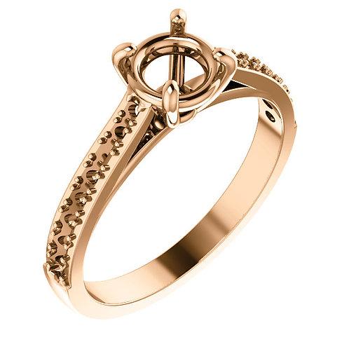 14K Rose Gold Engagement Ring Mounting