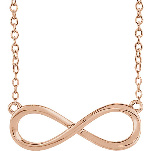 """14K Rose Infinity Inspired 18"""" Necklace"""