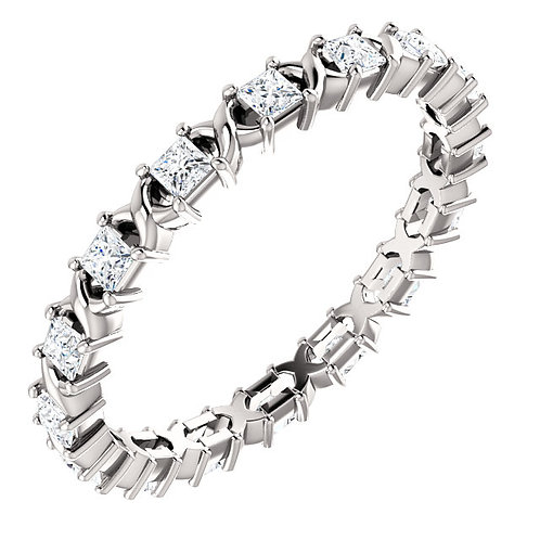 Platinum 3/8 CTW Diamond Eternity Band