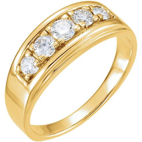 14K Yellow 3/4 CTW Diamond Ring