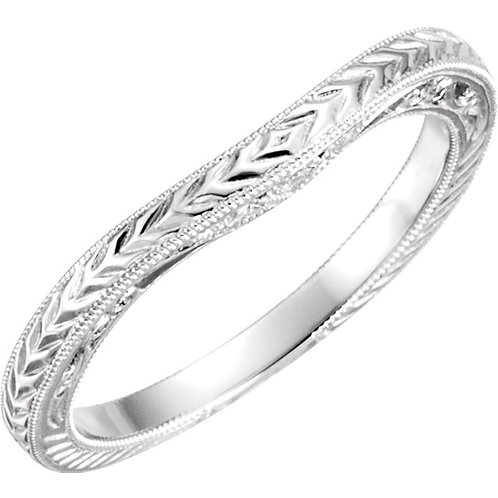 Diamond Hand-Engraved Band