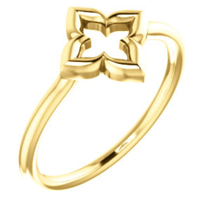 14K Yellow Gold Clover Ring