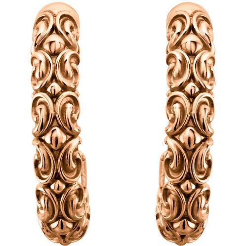 Sculptural-Inspired J-Hoop Earrings
