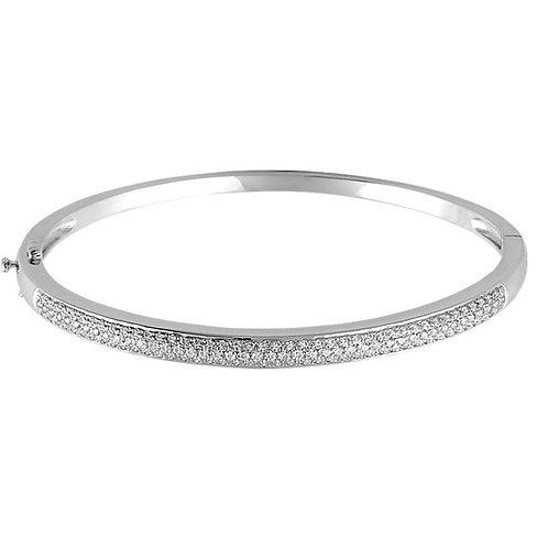 14K White 1 CTW Diamond Pave' Bracelet