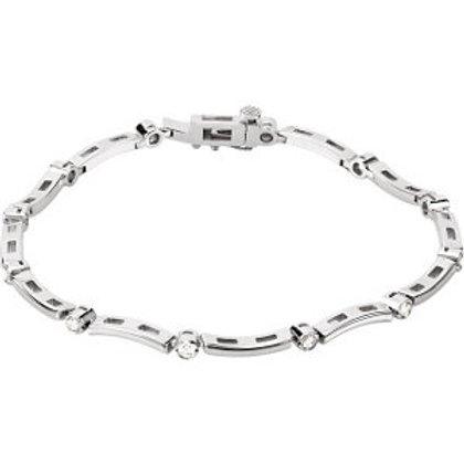 14K White .50 CTW Diamond Line Bracelet