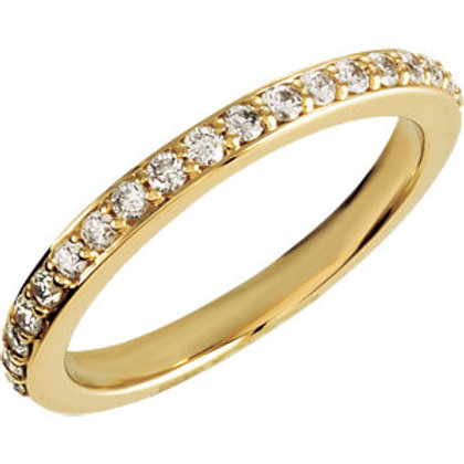14K Yellow 3/8 CTW Diamond Band