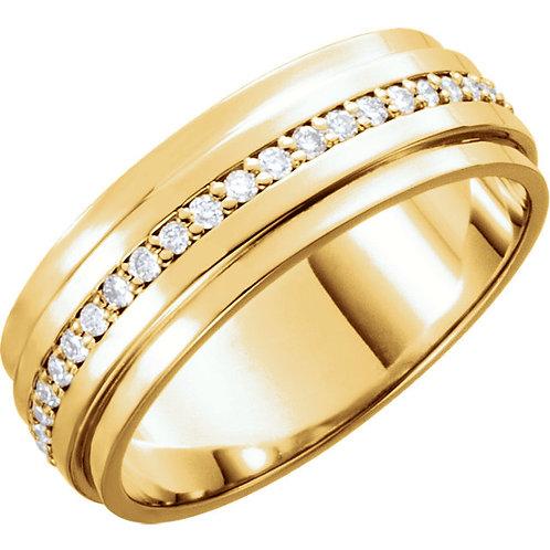 14K Yellow 1/3 CTW Diamond Band Size 6