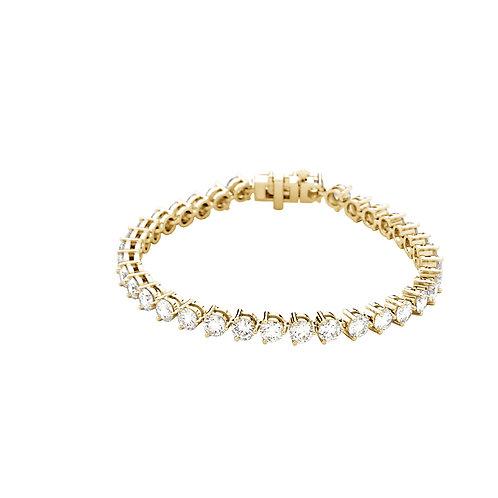 "18K Yellow 12 CTW Diamond Line 7.25"" Bracelet"