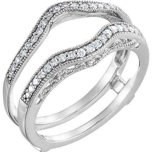 14K White 1/4 CTW Diamond Ring Guard