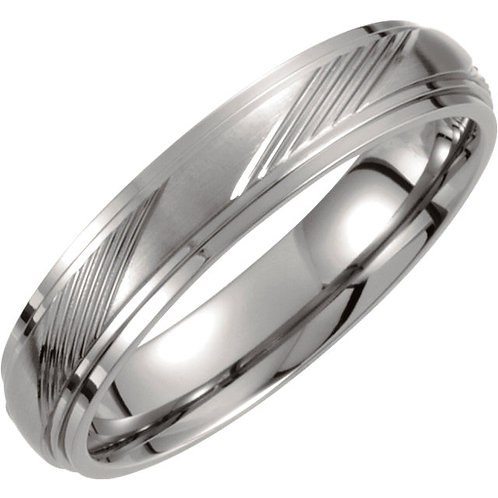 Titanium 5mm Ridged Band