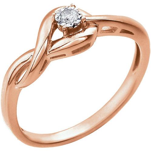 14K Rose Gold Infinitiy-Inspired Knot 0.04 ctw Diamond Ring