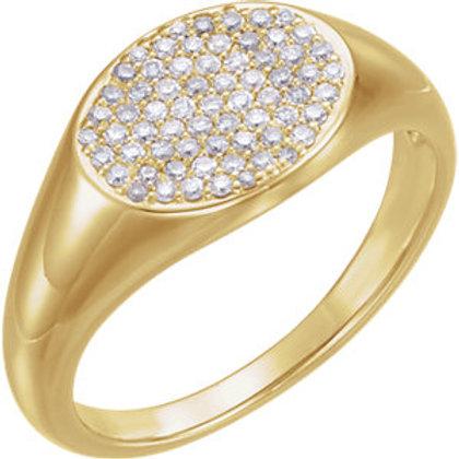 14K Yellow 1/3 CTW Diamond Pavé Ring