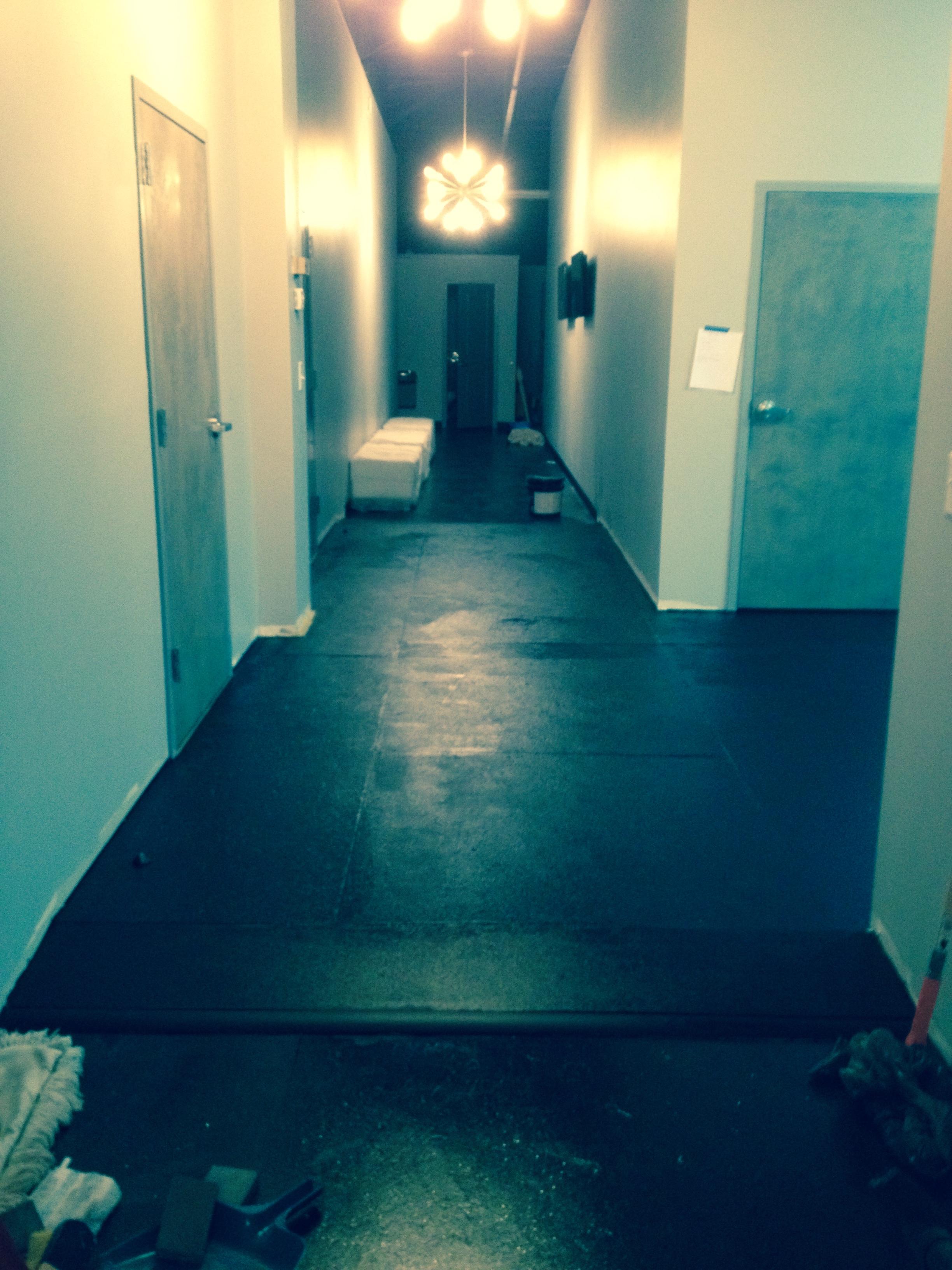 Hallway to locker areas