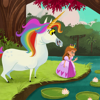 Unicorn, Mermaid Princess combo