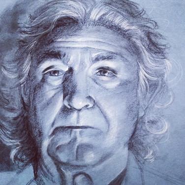 charcoal portrait on paper