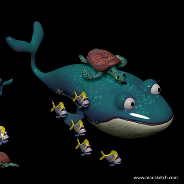 Whale and Friends