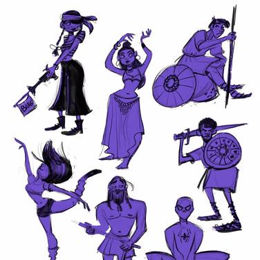 Quick gesture Drawings