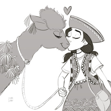 llama and her girl =)