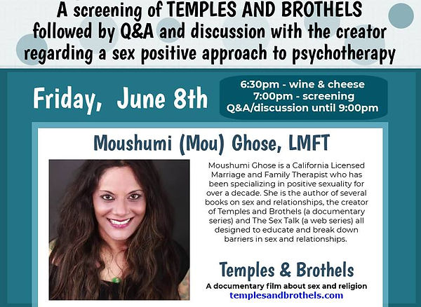 Moushumi Ghose, MFT Author, Sex Therapist in Los Angeles and Filmmaker