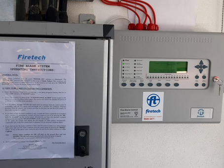 The finalization of yet another fire alarm project, entrusted to us by E&L Enterprises Ltd.