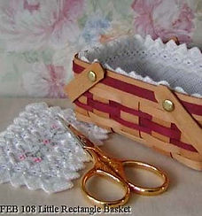 Rectangular Mini Basket Liner with doily, Counted Specialty Cross Hardanger Stitch Pattern
