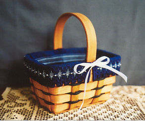 Bitty Blue Basket Liner, Cross Specialty Hardanger Stitch Pattern