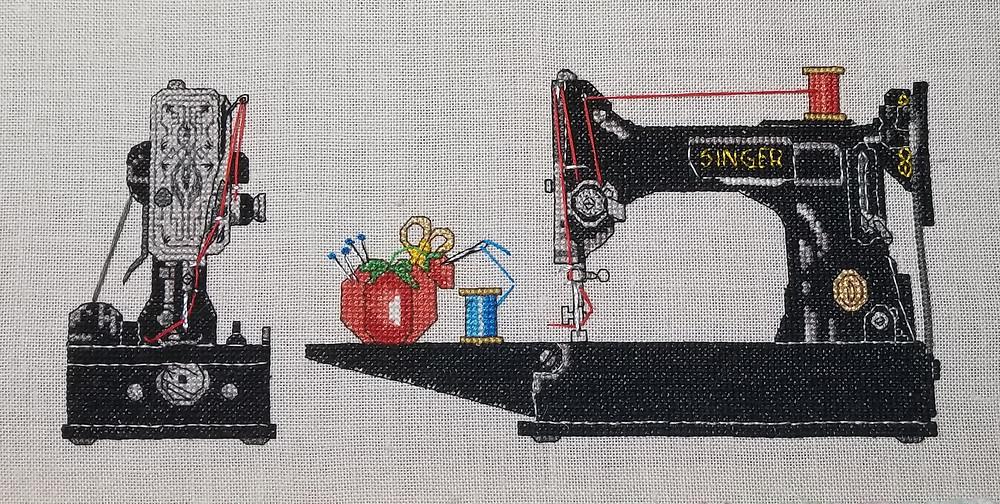 Singer Featherweight Cross Stitch Pattern Image