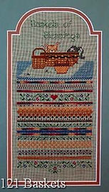 Baskets of Blessings Band Sampler with kittens - Cross Specialty Stitch Pattern
