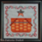 Patriotic Basket Cross Stitch Pattern