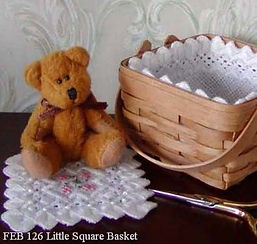 Mini Square Basket Liner, Counted Specialty Cross Hardanger Stitch Pattern