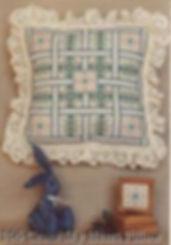 Cross My Heart Pillow, Ring box insert, sachets, pin cushion, cross specialty stitch pattern