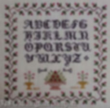 Old English Vintage Look Alphabet Sampler Cross Stitch Pattern