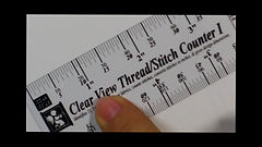 Clear View Thread Stitch Counters I & II, Clear, Transparent, Needlework Rulers