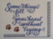 Cross Stitch - Some Things Fill Your Heart Without Trying - Paw Prints