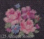 Antique Roses, Cross Stitch Over One