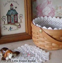 Square Mini Basket Liner and Doily, Counted Specialty Cross Hardanger Stitch Pattern