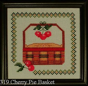 Cherry Pie Basket Cross Stitch Pattern