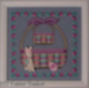 Tied Pastel Easter Basket Cross Stitch Baskets